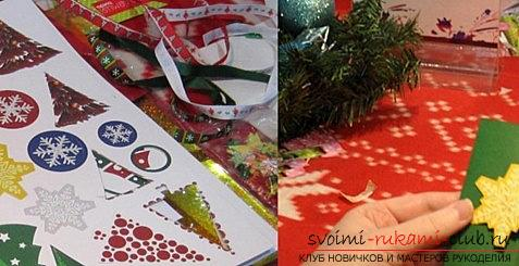 New Year scrapbooking with their own hands - a technique for beginners craftsmen. Photo №4