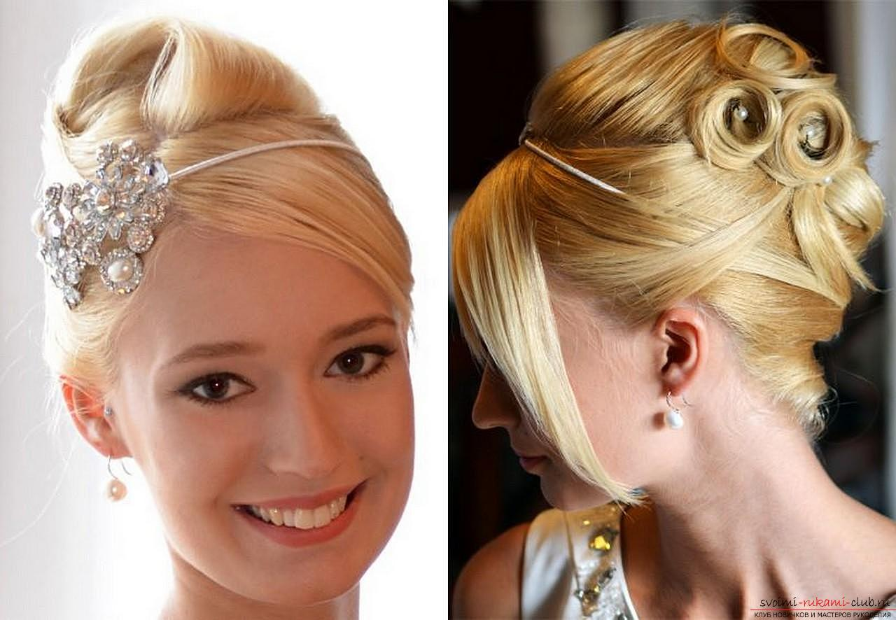 Photo gallery of wedding hairstyles for hair of different length. Photo №8