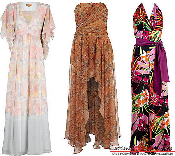 Samples of dresses in the floor, patterns. Photo №1