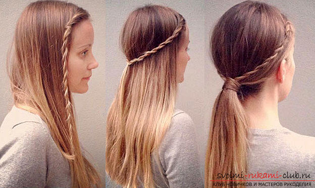Tips and advice on creating original hairstyles in school for 5 minutes with your own hands .. Photo # 5