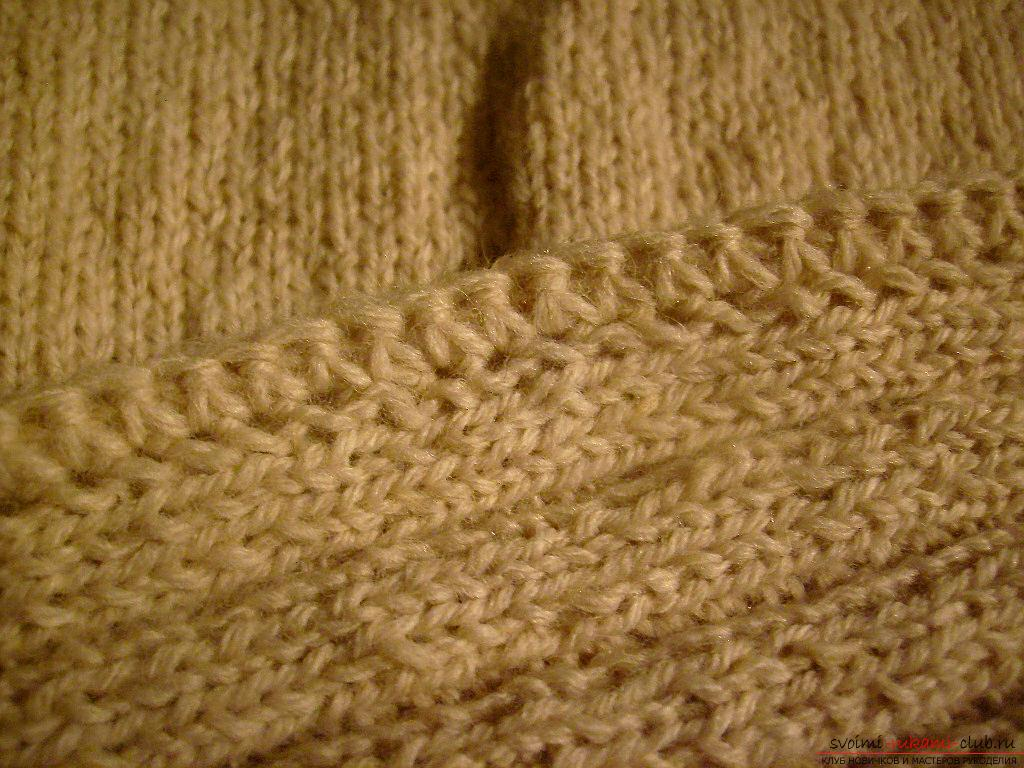 This master class with a pattern will teach how to tie a hat with ear flaps with knitting needles .. Photo # 13