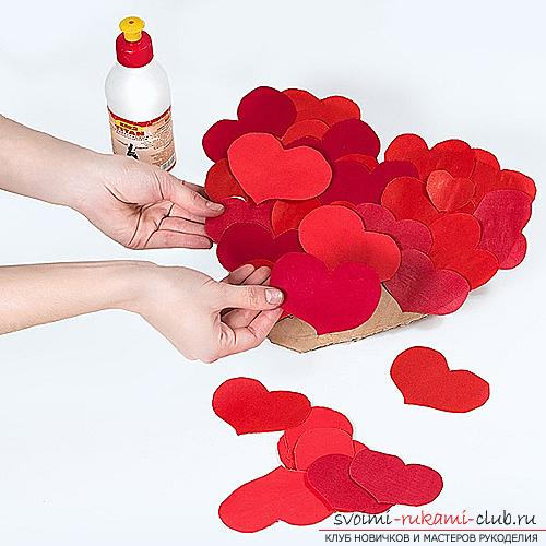 Gifts for Valentine's Day with their own hands, various variations of making Valentine's cards with their own hands, a magnet in the form of a heart as a gift to your beloved .. Photo №2