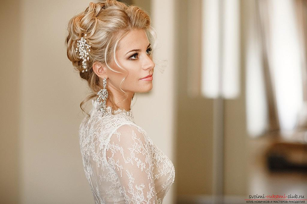 Tips for doing hairstyles with a wedding veil for your own hands. Photo №1