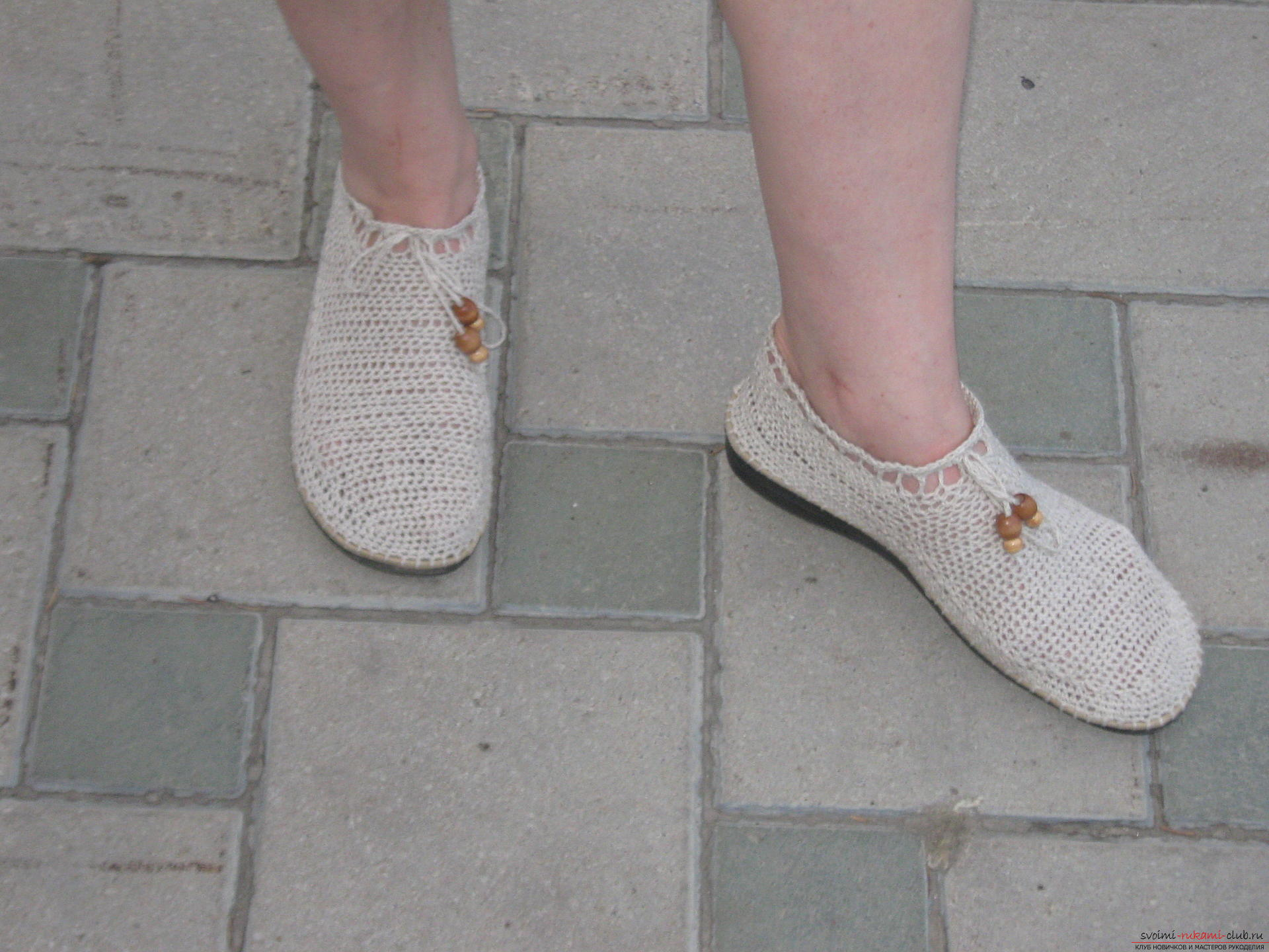 Crochet slippers. Photo №1