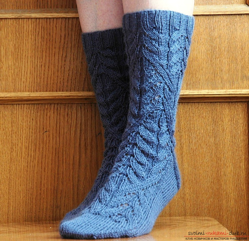 Knitting patterns for socks with knitting needles. Photo №5