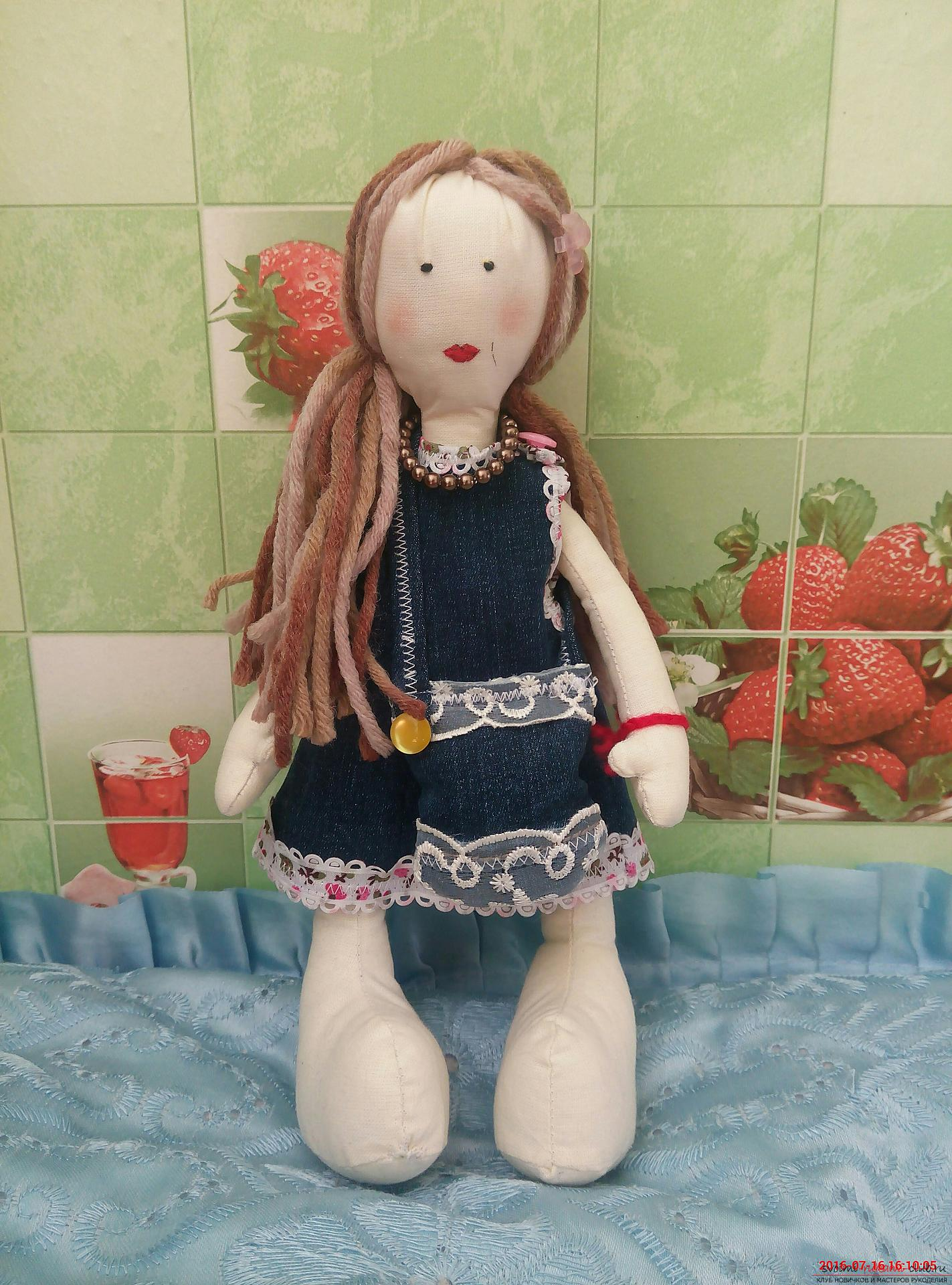 Snowball doll made of cloth. Photo # 2