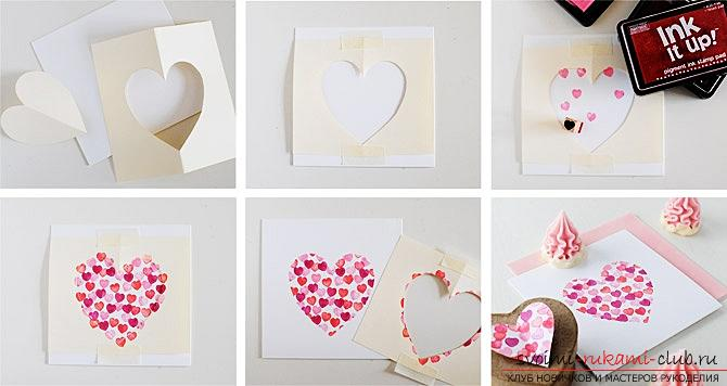 Gifts for Valentine's Day with their own hands, various variations of making Valentine's cards with their own hands, a magnet in the form of a heart as a gift to your beloved .. Photo №10