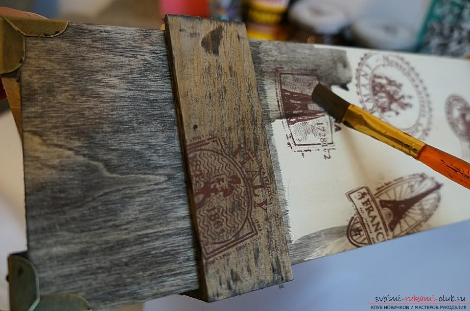 How to do decoupage boxes. Picture №3