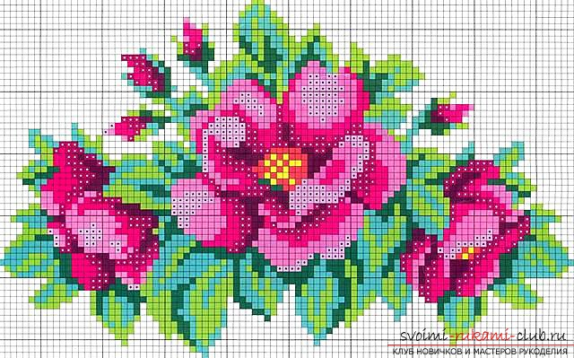 Embroidery of a flower with the help of beads. Tips and photos for embroidery with beads .. Picture number 2