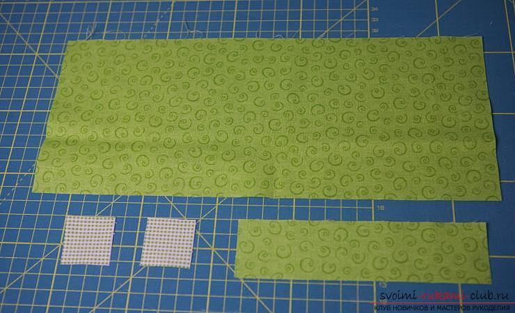 Making a Japanese bag of Omega in the style of Japanese patchwork. Photo №13