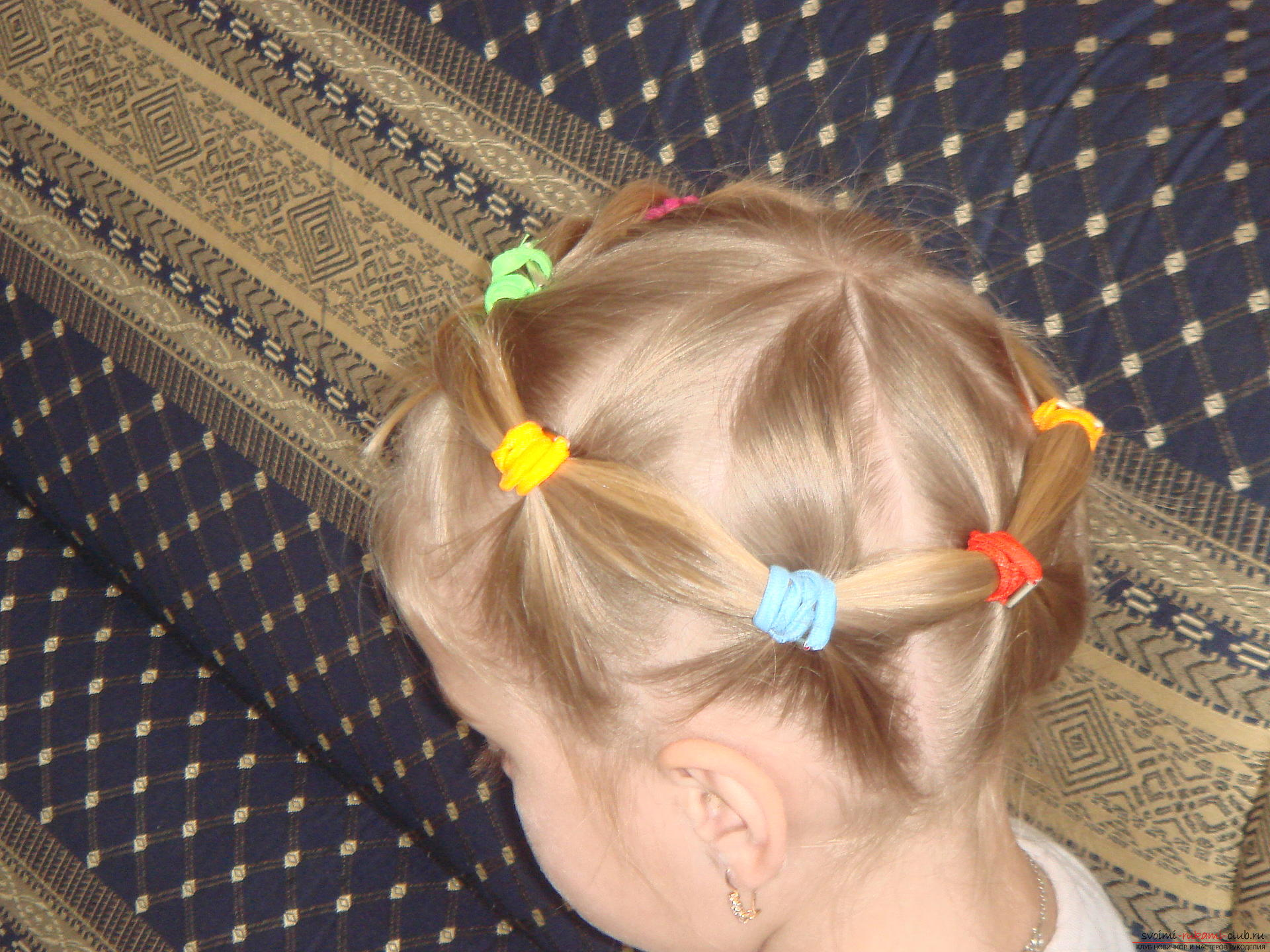 Not complicated hairstyles for little girls. Photo # 2