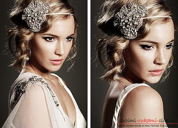 How to make a beautiful hairstyle on medium hair for a celebration with your own hands. Photo №6