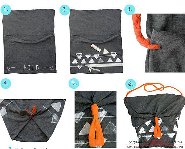 Summer bags, summer bag with their own hands, step-by-step instructions on how to make a bag of pillowcases .. Photo # 2