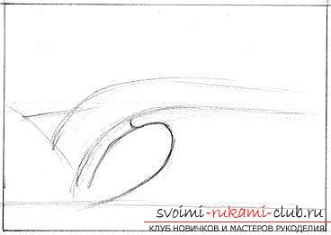 Lesson of drawing a sea wave. Picture №3