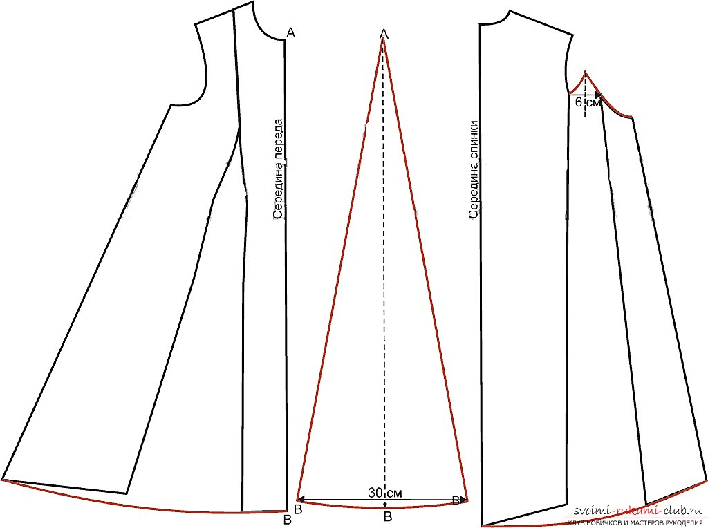 photo-scheme for the dress pattern. Photo # 2
