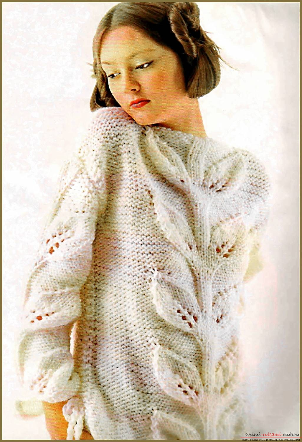 knitted knitting needles exquisite cardigan for a romantic nature. Photo №1