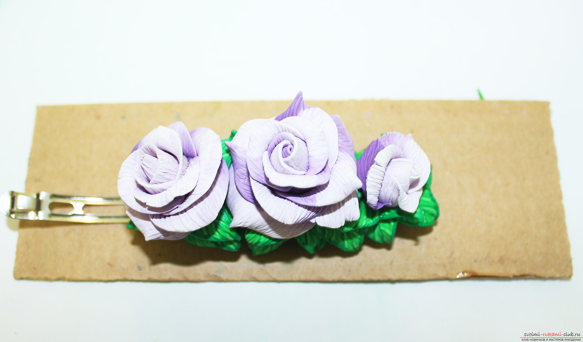 This master class with a photo and description will teach you how to make flowers - roses - from polymer clay in texturing technology .. Photo №81