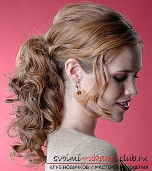 How to make a beautiful hairstyle for curly hair of medium length with your own hands ?. Photo №6