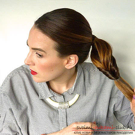 Master classes on creating hair styles for hair of medium length with their own hands. Photo number 20