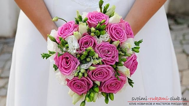 We make a wedding bouquet with our own hands. Picture №3
