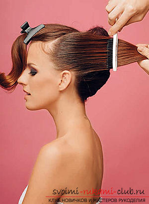 How to make an interesting wedding hairstyle for medium hair with your own hands. Photo №8