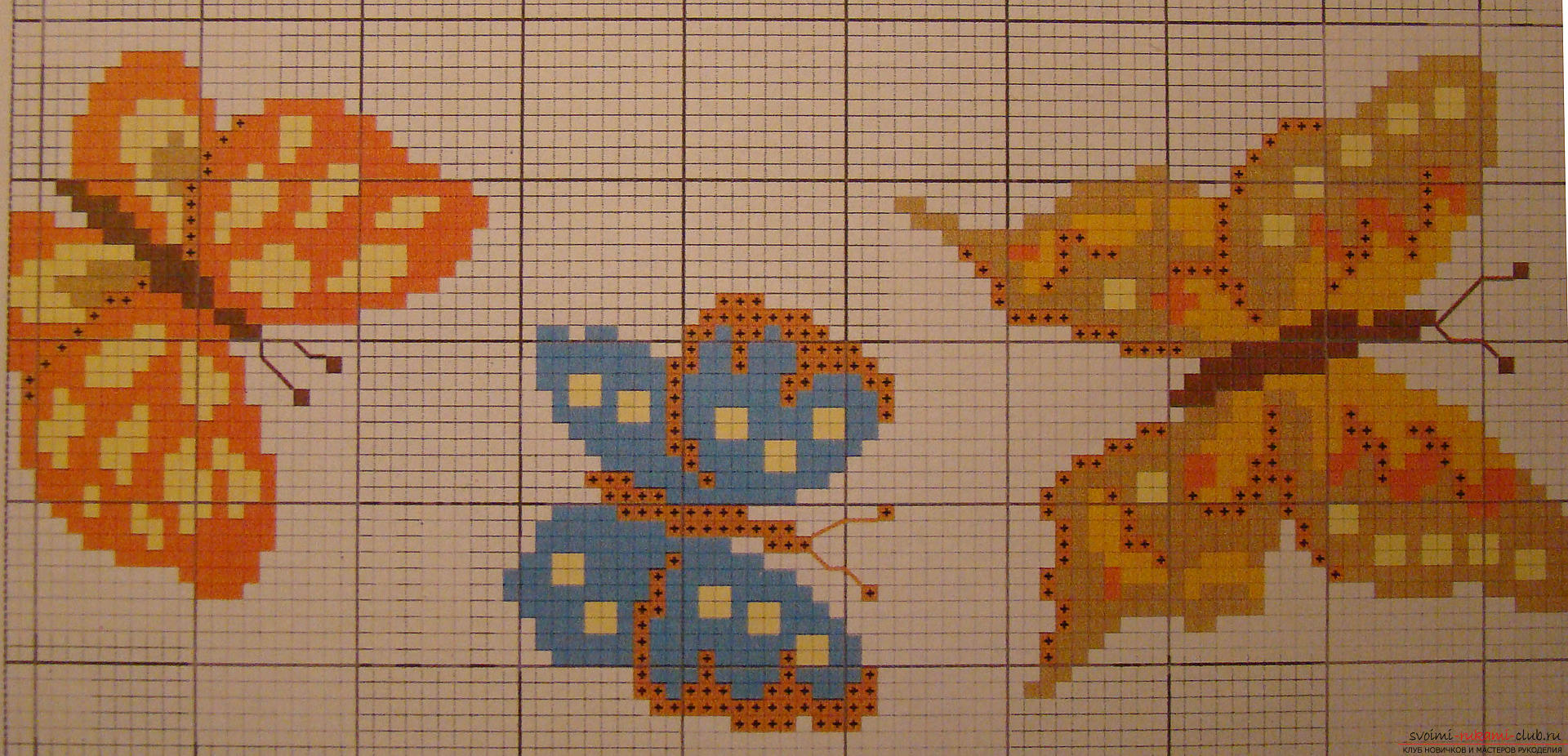 Children's embroidery of pictures cross. Photo №6