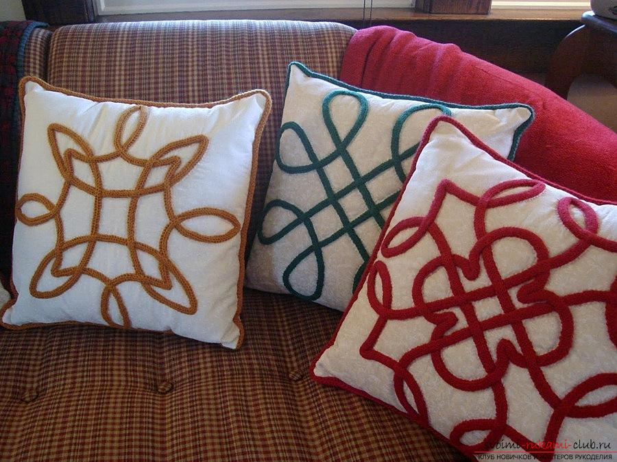 Celtic pillow with your own hands, Celtic cushion patterns - master class. Photo №8