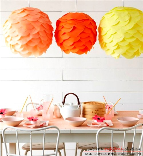 An interesting chandelier made of paper with your own hands. Photo №1
