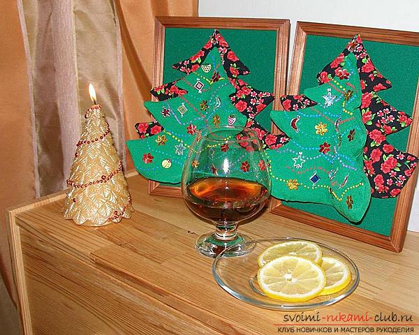 Новогодишно дърво със собствени ръце, коледно дърво от хартия, коледно дърво от плат, как да направите новогодишно дърво, съвети, препоръки, стъпка по стъпка снимки .. Снимка # 14