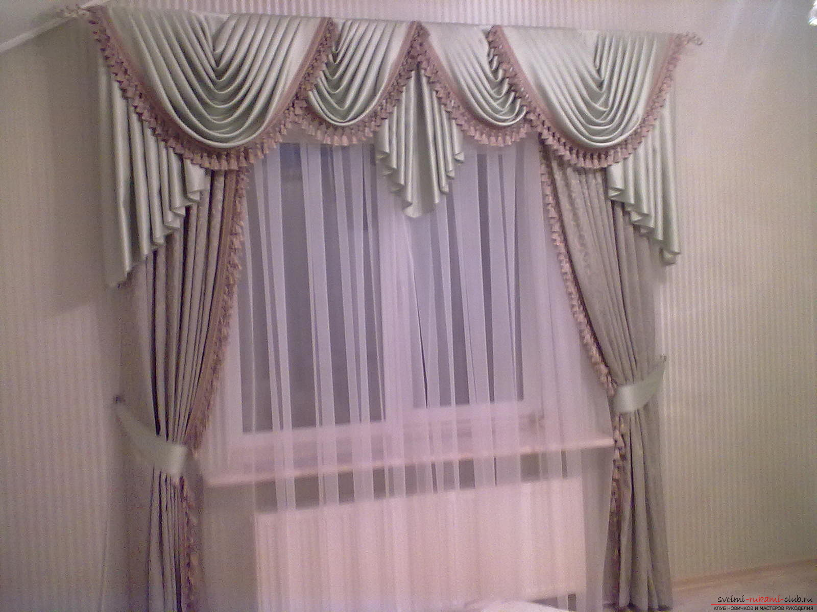 curtains for the bedroom with their own hands. Photo №4
