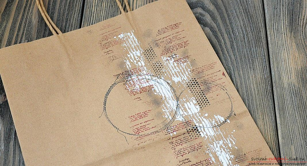 How to make a kraft package for a gift for the new year? Scrapbooking with your own hands. Picture №3