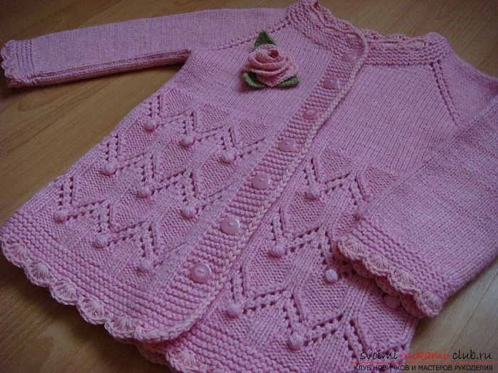 Knitting a baby blouse with knitting needles. Diagram and photo for beginner needlewomen. Picture №3