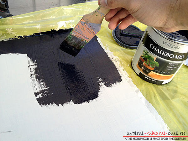 Step-by-step instructions for making slate and cork wallboards for records .. Photo # 2