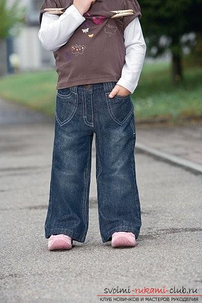 How to sew children's jeans at home with their own hands. Photo №1