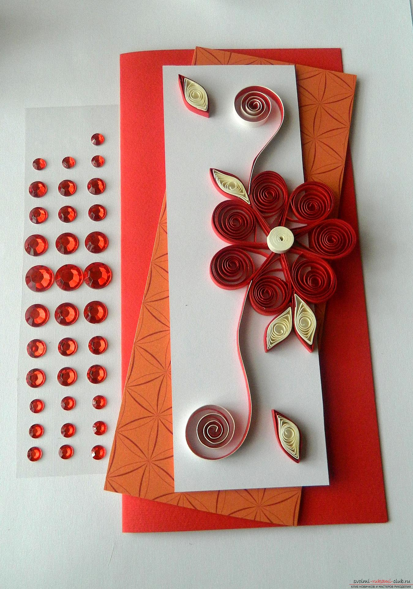 From this detailed master class with a photo you will learn how to create a quilling postcard .. Photo # 21