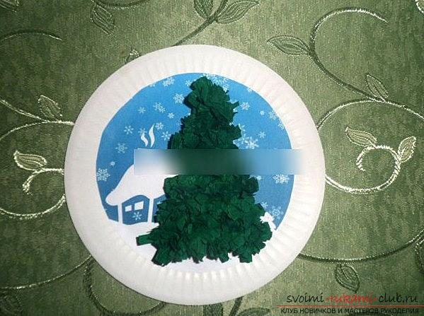 Quilling a New Year's panel with a Christmas tree - a quilling of Christmas crafts and a master class. Photo №4