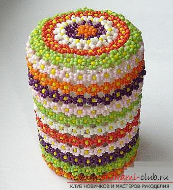 Several master classes to decorate the caskets with beads, photos, ideas for inspiration .. Photo # 33