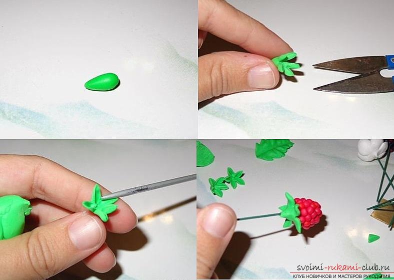 How to make your own hair rim with polymer clay hair, master class with a photo .. Photo # 22