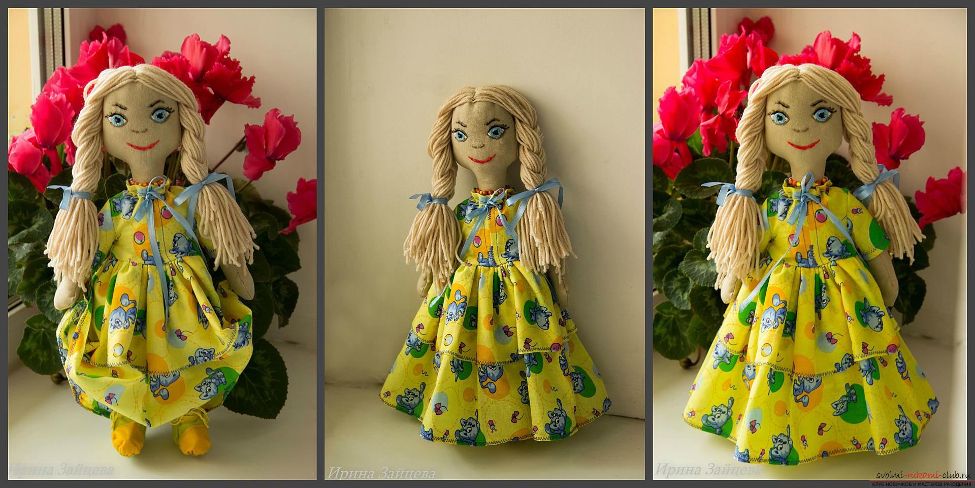 Textielpoppen in Tilda-stijl. Foto # 2