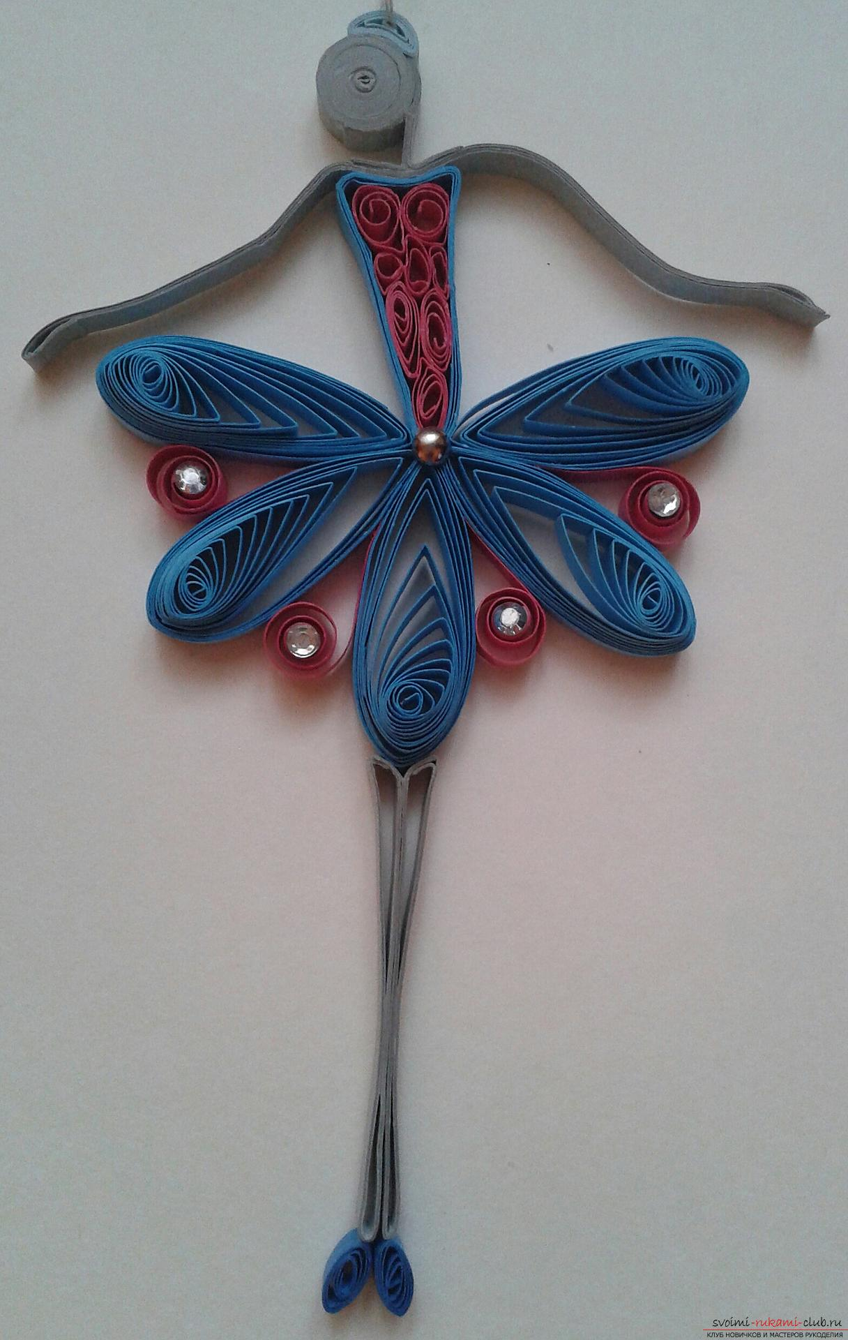 This detailed master class contains a lesson of quilling for beginners and will teach you how to make your own quilling ballerina. Photo # 20