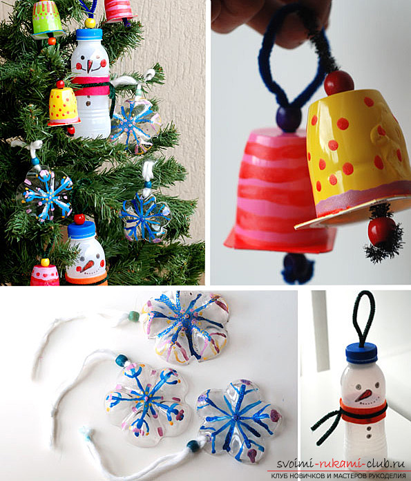 Simple toys on the Christmas tree, made by own hands. Photos of Christmas toys .. Picture №3