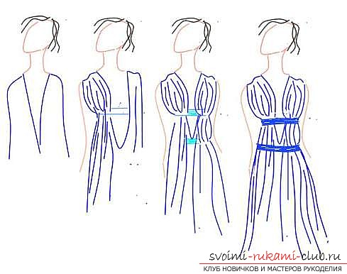 Sew fast dress in Greek style. A simple pattern of light dress. Picture №3