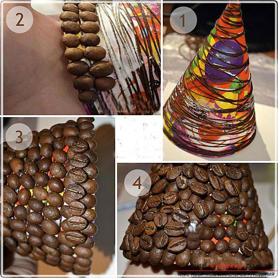 Коледно дърво със собствени ръце, коледно дърво от хартия, коледно дърво от плат, как да направите новогодишно дърво, съвети, препоръки, стъпка по стъпка снимки .. Снимка # 25