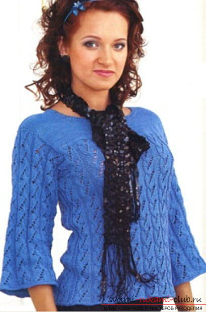 A beautiful women's jacket: we knit knitting needles with a pattern. Picture №3