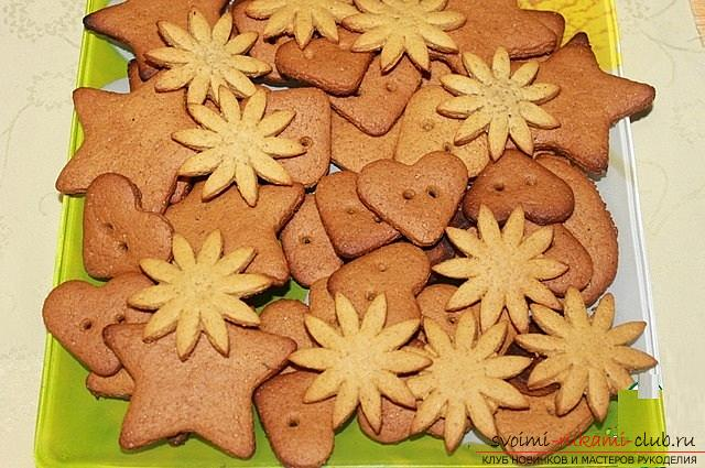 How to cook delicious and beautiful New Year cookies, a recipe of Chinese cookies with predictions and honey crackers with kind wishes. Photo number 17