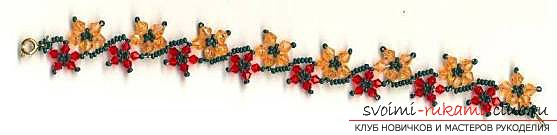 Schemes for bracelets from beads .. Picture №3