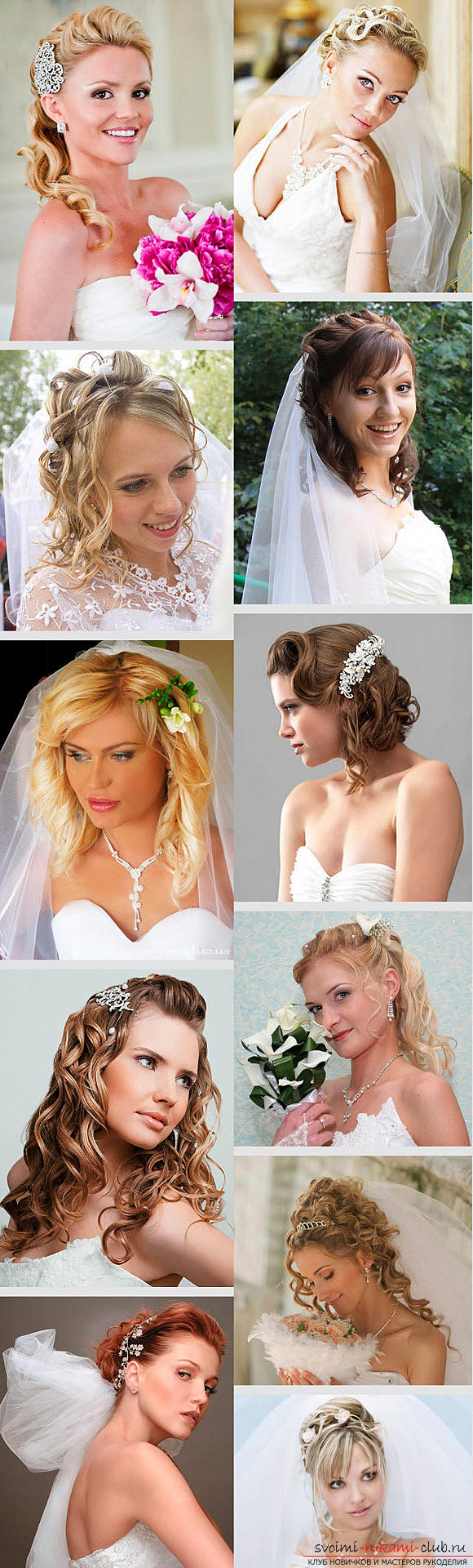 Master the mastership of creating hairstyles for the bride with your own hands. Photo №5