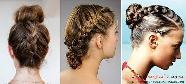 How to make a beautiful hairstyle for medium hair with a French scythe at home. Photo №1