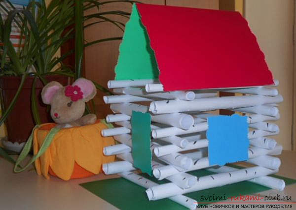 make a house of paper with your own hands. Photo №6