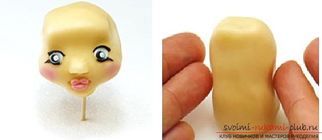 Master class on modeling dolls from polymer clay with their own hands. Photo №7